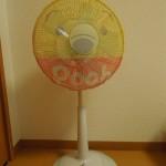 100円ショップ日用品の扇風機カバー