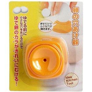 百均の卵の穴あけ器