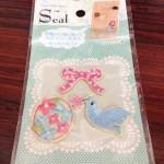 100円ショップ手芸品・クラフト用品のハンドメイド刺繍シール(ガーリー)