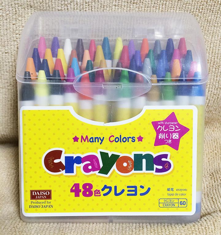 百均の48色クレヨン