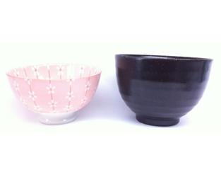 百均のお茶碗2種比較