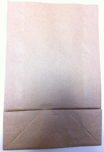 100円ショップのクラフト紙袋