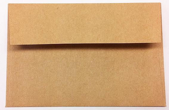 100円ショップのカードサイズクラフト封筒