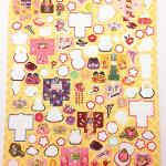 100円ショップ100均商品の日本の和紙シール