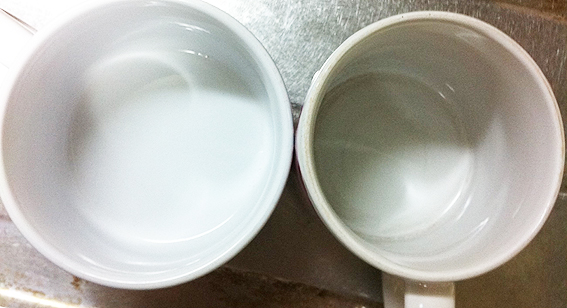 100円ショップのセスキ炭酸ソーダレビュー マグカップの茶渋編