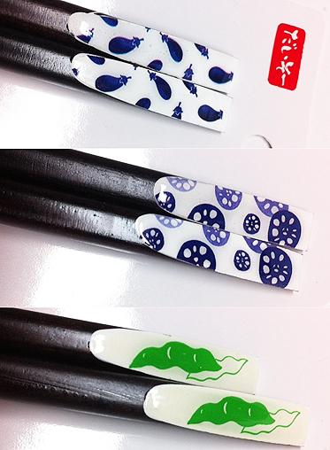 100円ショップの天然木箸と箸置きセット